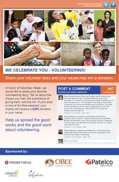 Volunteer Week! Look at the many ways in which you can give back in your own community! #VolunteerWeek #FWB40 #FacebookForGood contest fundrais, volunteerweek fwb40, volunt week, fwb40 facebookforgood, facebook contest