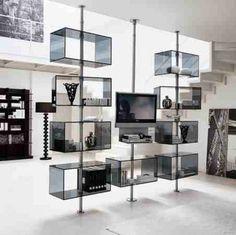 Swivel hanging shelves