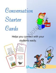 Giveaway - Conversation Starter Cards! Enter for your chance to win 1 of 10.  Conversation Starter Cards (4 pages) from Math-Games on TeachersNotebook.com (Ends on on 10-25-2014)  These cards are a great way to open the lines of communication between you and your students or to help students bond together and get to know each other better. Giveaway from 10/18 to 10/25.