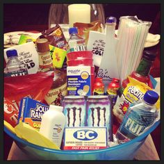 Hubby's bachelor party goodies... even though this is on my bachelorette party board :D