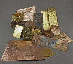Embossing Metal With a Letter Press, cuttlebug or Pasta Machine. Tutorial on using various strengths of metals.
