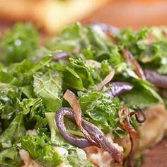 Raw Kale Salad with Roasted Garlic Dressing Recipe
