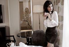 Julia Restoin Roitfeld x Me & City Winter 2011 Collection fashion, photographs, citi winter, leather skirts, julia restoinroitfeld, winter collection, big hair, restoin roitfeld, winter 2011