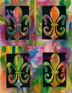 "Louisiana artists | The Quad"" Fleur de Lis Limited Giclee Edition Print"