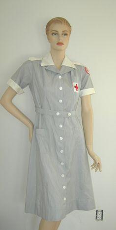 50s AMERICAN RED Cross Volunteer Nurse Uniform