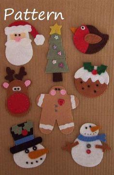 PATTERN - Prim Linz 8 Felt Christmas Toppers Pattern