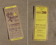 amazing invitations - wood veneer with paper slip. invitations, invit idea, wedding ideas, laser cutting, weddings, papers, parti idea, rustic wood, wood veneer