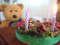 Advent Wreath craft for kids.