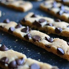 How cool are these Chocolate Chip Cookie Sticks?  And you can bake all 36 of them at the same time!