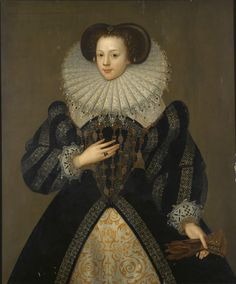 Per Sotheby's: c. 1700 copy of a 1583 portrait of Mary Kytson, wife of Thomas Lord Darcy. Inscribed 1583 AETATIS 17. Later inscription MARY WIFE OF THOMAS LORD DARCY/DAUGHTER OF SIR THOMAS KITSON. oil on panel, 44 × 37 in (111.8 × 94 cm). Date c. 1700 copy of a painting of 1583