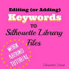 silhouett librari, silhouett school, librari keyword, silhouett cameo, silhouett tutori, edit silhouett