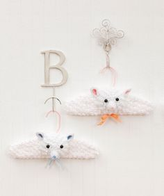 "pattern for ""Little Lamb Hangers""...what a darling gift idea!"