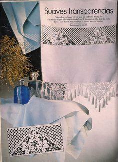 Cortina de lino y ganchillo. Linen and crochet courtain. Free pattern.