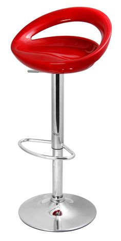 Red bar stools on pinterest hippie apartment decor log - Bright colored bar stools ...