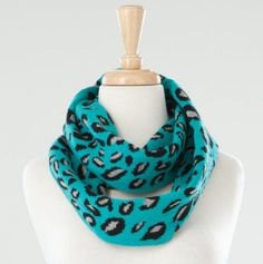 Leopard Jacquard Infinity Scarf - Laundry by Shelli Segal Girls Winter Accessories