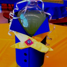 Centerpiece for Cub Scout Blue and Gold Banquet