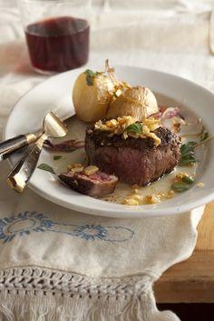 Steak with FriedGarlic