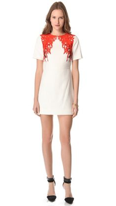 Tibi coral-print dress :: love!