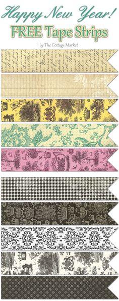 Printable tape strips