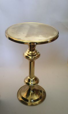 gorgeous brass side table