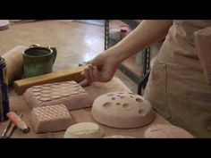 Hump molds made of clay can be created with surface texture built it.  This video shows how to make them with various textures.