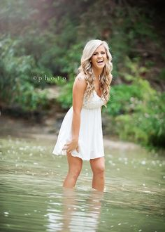 senior girl, senior pictures, HS senior, senior girl photos, senior girl photo shoot, Photo Jewels Photography, creek, water photo shoot by ...