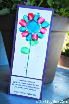 Mothers Day Flower Poem | finger print mothers day flower poem