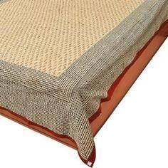 Baumwollbettücher mit Blockdruck 218 x 264 cm: Amazon.de: Küche & Haushalt