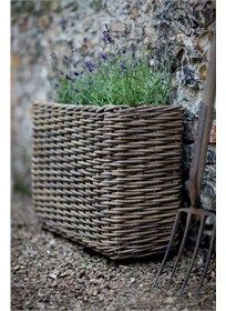 Trough Planters and containers in rattan, wood, wicker and metal | Garden Trading
