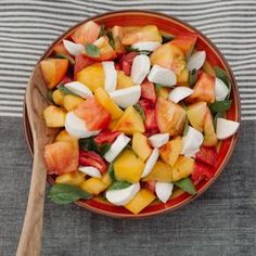 Nectarine and Heirloom Tomato Salad | Camp Makery More