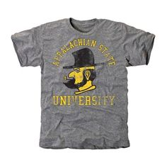Appalachian State Mountaineers Vintage Arch 'n Logo Tri-Blend T-Shirt - Ash