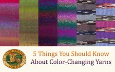 5 things about color-changing yarns