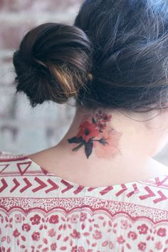 Floral temporary tattoo