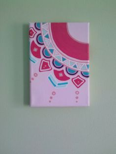 Dorm decor - canvas art. DIY