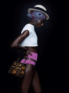 Nala Diagouraga in Elle Romania June 2014 fashion editorial