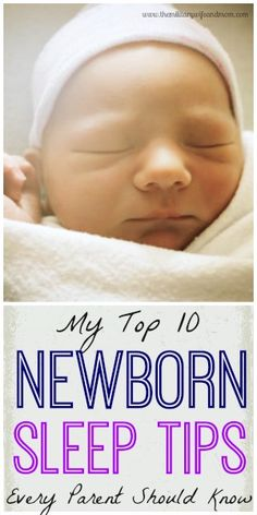 Practical tips to help your newborn baby sleep better! #parenting #babies #motherhood