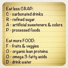 Eat less CRAP, Eat more FOOD