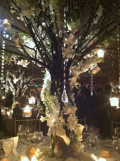The trees are so cool with the hanging candles! I could go without the crystals though
