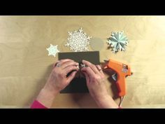 Stampin' Up! Festive Flurry Ornament Kit.