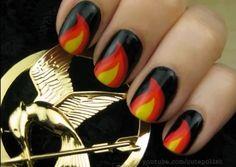 Hunger Games nails!! :)