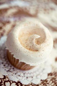 Magnolia Bakery ~ Snickerdoodle Cupcake ~ Cinnamon cake with meringue icing and cinnamon sugar