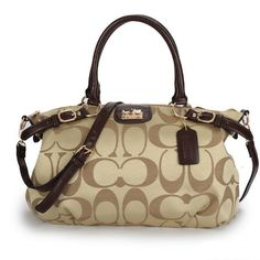 #CoachOutletStore Coach Madison Kelsey In Signature Medium Khaki Satchels ATH Will Give You Most Wonderful Feeling Every Day!