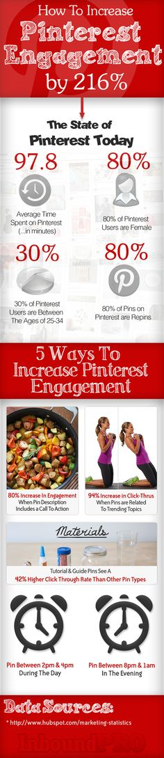 How To Increase Pinterest Engagement [Infographic]