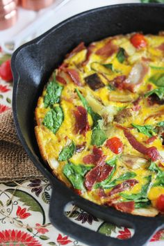 Sweet Potato BLT Frittata - add a salad, and you've got a perfect Phase 3 dinner.