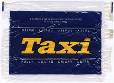 UK - Taxi candy bar wrapper - 1970's by JasonLiebig, via Flickr