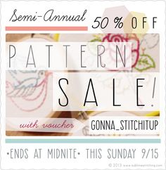 Sublime Stitching - HALF OFF PATTERN SALE!