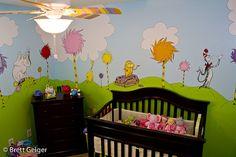 Dr. Seuss Nursery. Cute!