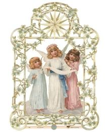Double Sided Angel Trio Scrap ~ Germany ~ New for 2013
