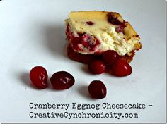 These cranberry eggn