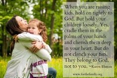 A GREAT reminder of how quickly time flies and the importance of holding our children loosely...